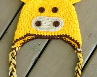 Crochet Giraffe Hat, Giraffe Hat, baby giraffe hat, Kids Giraffe Hat, Newborn Giraffe Hat, Newborn Baby Animal Hat, Newborn Photo Prop