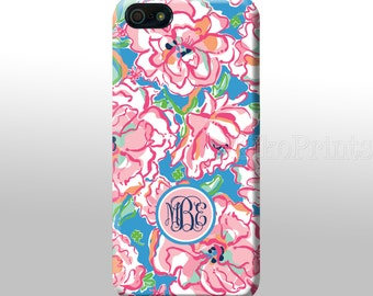 iPhone 6 Galaxy S6 S6 Edge Lily Pulitzer inspired Monogrammed iPhone 4/4S 5/5S 5C  Galaxy S4 case Personalized phone case