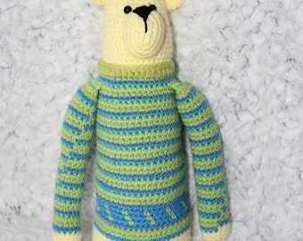 Crochet bear plush amigurumi toy handmade