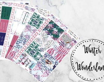 Winter Wonderland Weekly Kit! // Erin Condren Vertical Planner Weekly Sticker Kit