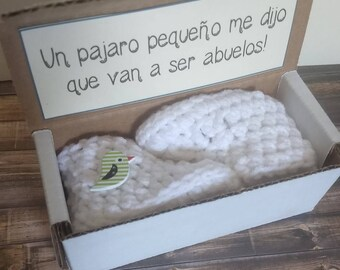 Abuelos Pregnancy Announcement, Spanish Pregnancy, Español Pregnancy, Abuelitos, New Grandparents, Birdie, First Grandchild, Fast Shipping