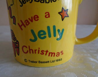 vintage jelly baby mug ' have a jelly christmas'