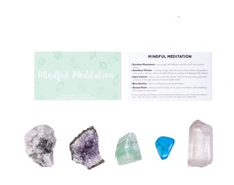Meditation Crystal Set / Crystals For Meditation / Meditation Healing Crystals / Meditation Crystals / Meditation Stones/ Meditation Set