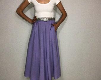 1980s skirt • midi skirt • circle skirt •