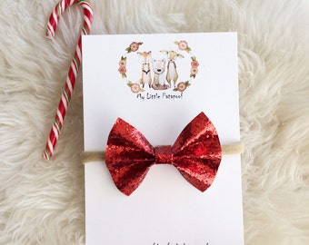 Christmas Winter Bow - red