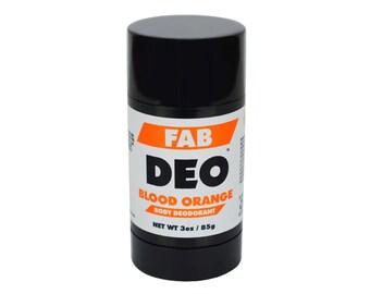 BLOOD ORANGE Natural Deodorant Deoderant Stick Vegan
