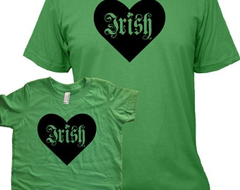 St Patricks Day Matching Father Son or Daughter Shirts, Irish T shirts, gift, new dad shirt, father son, gift for dad, gift for dad kids set