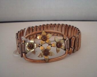 Vintage Kresler flower expansion bracelet