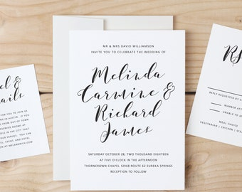 Instant download printable wedding invitation template instant download printable wedding invitation template flowing script word or pages mac or stopboris Gallery