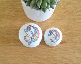 Unicorn Drawer Knob, Unicorn Knob, Unicorn Pull, Dresser Pull, Dresser Knob, Girls Room, Nursery Decor, Unicorn Nursery, Rainbow, Handles.