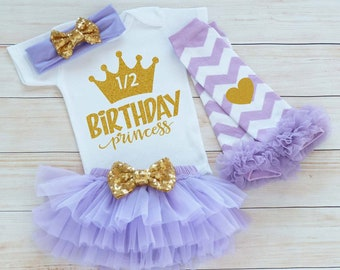 Half Birthday Girl Bodysuit, Baby Half Birthday Outfit, Cake Smash Shirt, Half Way To One Outfit, Six Month Birthday, Half Birthday Bodysuit
