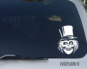 Haunted Mansion Hatbox Ghost Decal