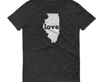 Illinois Shirt, Illinois TShirt, Illinois Love Shirt, Illinois Tee, State Pride, Illinois Gifts, Illinois State, Map, Shirt, TShirt, Tee, IL
