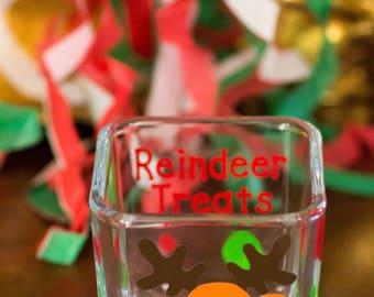 Reindeer Treats Glass Container