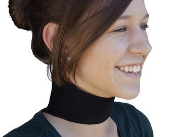 Self-Heating Neck Support   Dual Magnetic & Tourmaline Technology   Self-Heating   Adjustable Fit