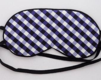 NIGHT MASK for sleeping blue tile sleep and travel mask 2 straps blindfold