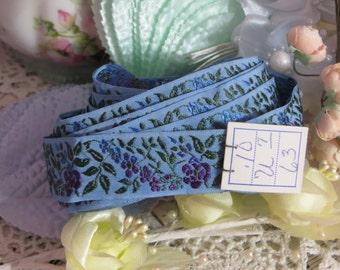 Floral French Jacquard Silk-1 yard-Old Sock