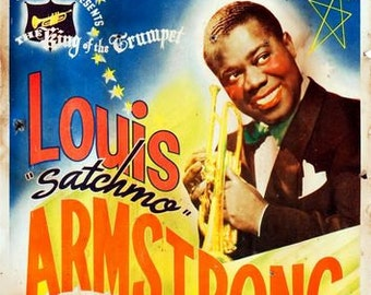 Vintage Louis Armstrong Concert Poster A3 Print