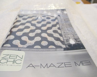 "Paper Pattern for a quilt called A-Maze Me by Zen Chic for Moda 61"" square"