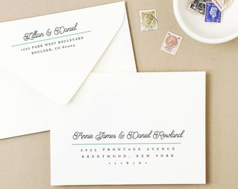 INSTANT DOWNLOAD | Printable Wedding Envelope Template | Modern Script | Calligraphy Alternative | for Word or Pages Mac & PC