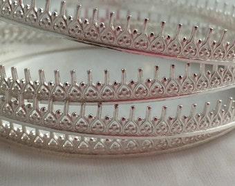 925 SIlver Gallery Wire, Wishbone shape, Dagger Wire, Bezel Wire, Sterling Silver, by the FOOT