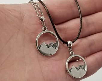Mountain Necklace, Hiker Necklace, Hiking Necklace, Gift For Hiker