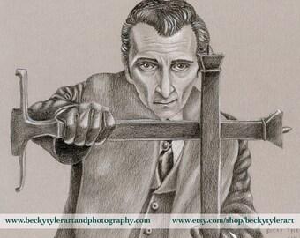 Peter Cushing as Van Helsing Drawing
