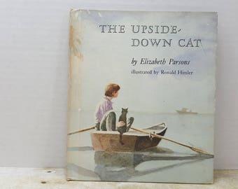 The Upside Down Cat, 1983, Elizabeth Parsons, Robert Himler, vintage kids book
