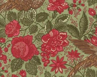 Christmas Fabric - Winterlude Flourish Paisley by 3 Sistrs for Moda Faebrics 44041 13 Mistletoe (green) - Priced by the half yard