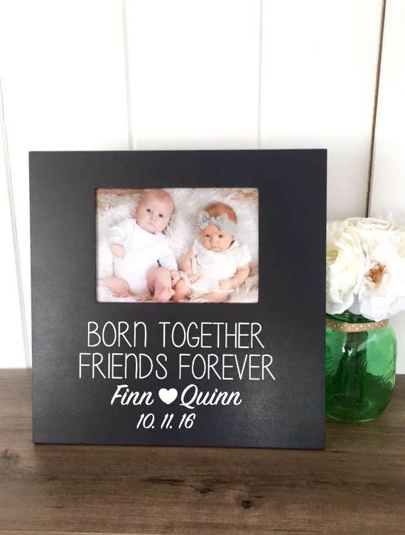 Twins picture frame twins baby gift boy girl twins personalized twins picture frame twins baby gift boy girl twins personalized new twins gift twins baby shower gift twins 1st birthday boy twins from fourleafframes negle Choice Image