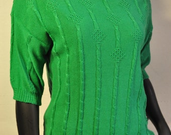 Women's Vintage Green Sweater