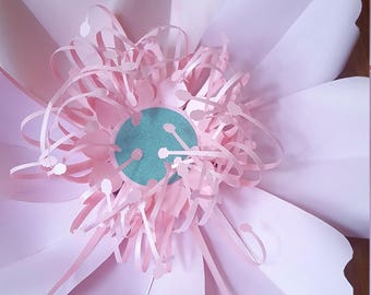 Paper Flower Template and Base  PDF digital file #76 (no centre only flower template)