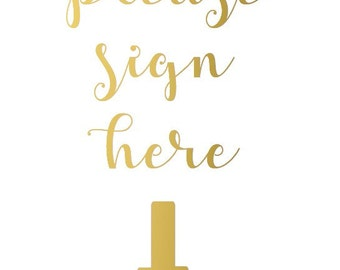 Guest Book Foiled Sign