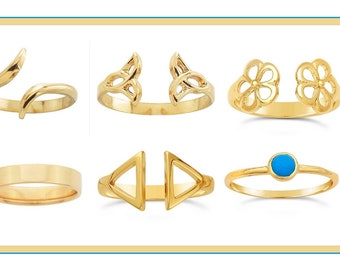 Solid 14K Gold Rings