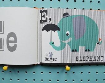 Animal Alphabet Book, fun ABC Book, Alphabet fun, Funny animals Book, alphabet prints, retro ABC, vintage ABC,contemporary abc, learning abc