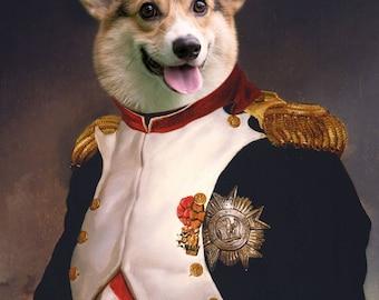 Napoleon General Corgi Print