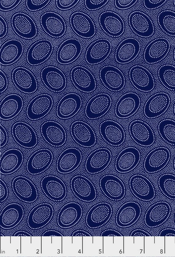 ABORIGINAL DOT Indigo Blue PWGP071.INDIG Kaffe Fassett Collectives Sold in 1/2 yd increments