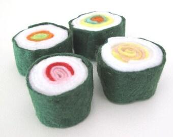 Japanese Sushi Felt Play Food, Felt Pretend Takeaway, Toy Kitchen Food