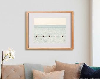 Beach Buoys Print.  Nature photography, beach, coastal, decor, wall art, artwork, large format photo.