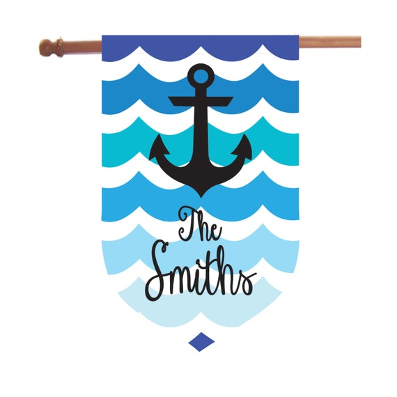 Personalized Anchor House Flag