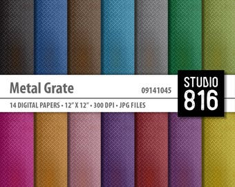 Metal Grate - Digital Paper for Scrapbooking, Cardmaking, Papercrafts #09141045