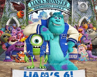 Monsters University Invitation, Monsters Inc Party, Sully Birthday Invite