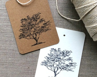 20 Tree Cards, Tree Gift Tags, tree thank you cards, tree wedding favors, tree bridal shower favors