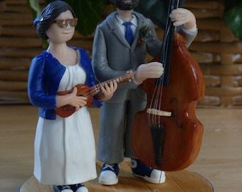 Personalized CAKE TOPPER - custom - your story! Wedding anniversary. Wedding. Cake figurine. Porcelain cold saeljana