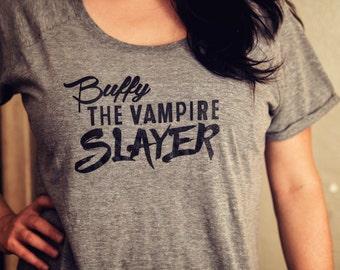 Buffy the Vampire Slayer T Shirt Dolman Sleeve Tri-Blend Tee