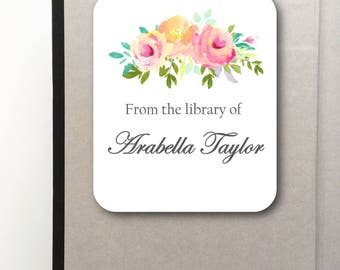 Personalized Bookplate Labels- Peel and Stick- Bookplate- Stickers