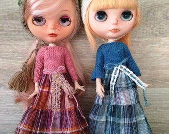 Two dresses for Blythe with hat