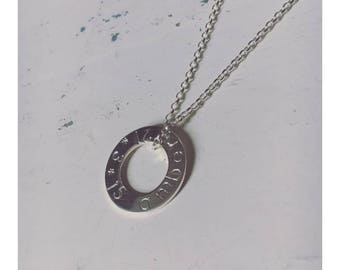 Sterling Silver Washer Necklace