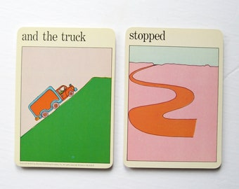 the truck stopped - Driving Art Prints - Vintage MOMA Art Cards - Typography Art - Mid Century Modern Home Decor - Museum of Modern Art