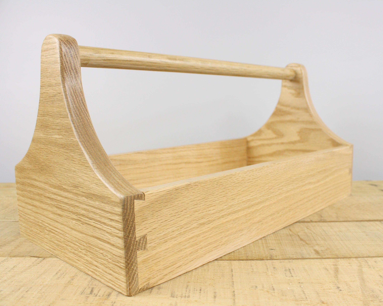 wood tool box, oak box, carpenters tote, storage ideas, craft box ...